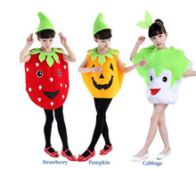 Halloween Costumes Children Pumpkin Clothes Cabbage Strawberry Clothes Boy Girl Pumpkin Clothes for Halloween Cosplay children clothes long sleeve strawberry patten 100