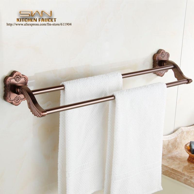 Redwood Color Bathroom Towel Bar Rack Single Holder Bathroom Accessaries Hardware 60cm 3EF2121