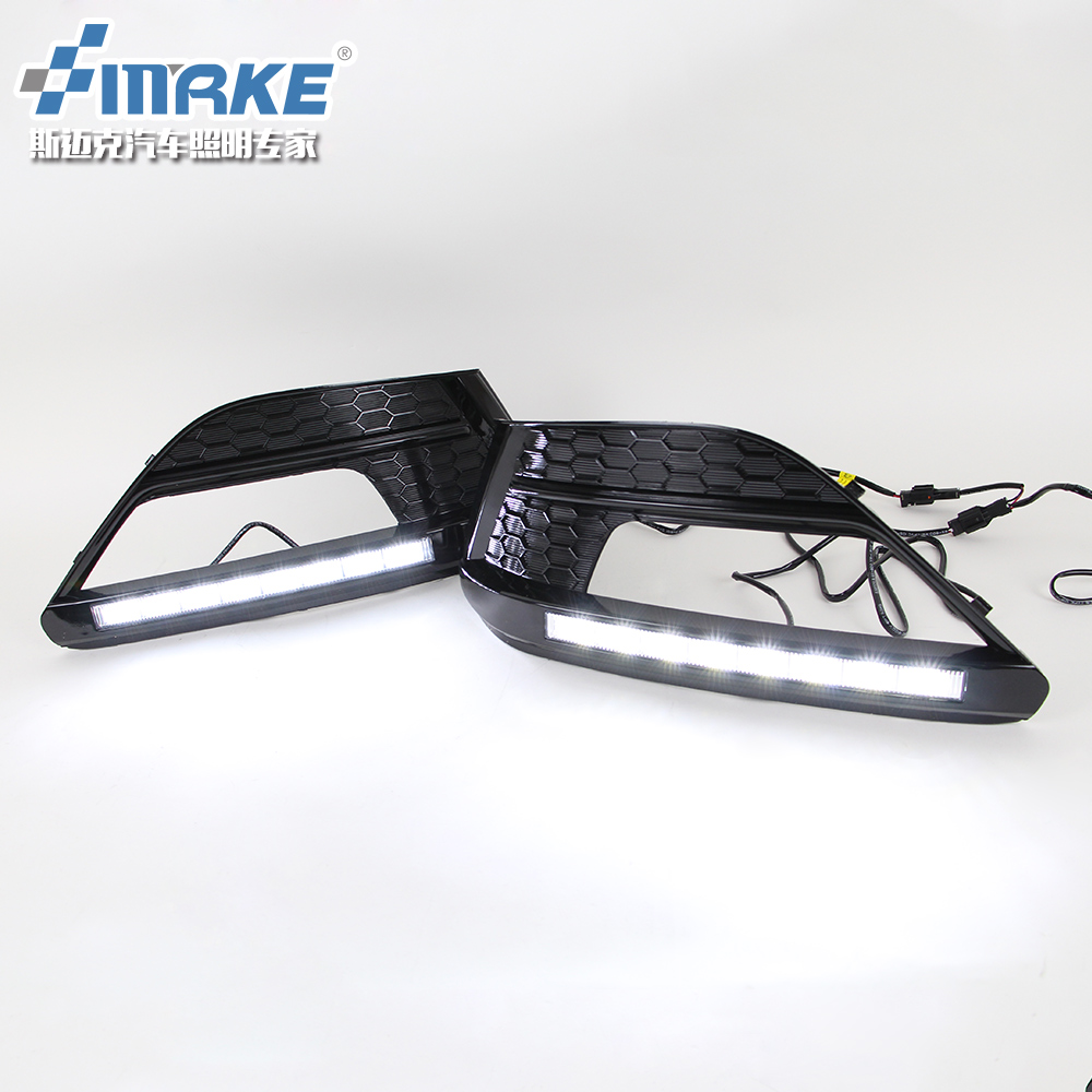 led drl daytime running light for MG6 MG 6 top quality with dimmer function, 2 version optional, plating or black free shipping for mazda 3 axela 2014 led drl daytime running light with dimmer function guiding light design matt black