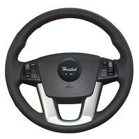 Steering Wheel Cover for Kia Sorento 2009 2014 Kia Cadenza K7 2011 2015 Microfiber leather braid on the steering wheel