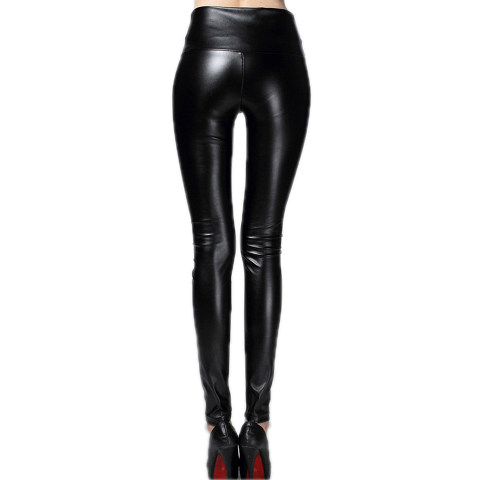 4e2d52fc2732a2 Hot Sale Sexy Shiny Metallic Women Leggings High Waist Black Stretchy Pu Leather  Leggings-in Leggings from Women's Clothing on Aliexpress.com | Alibaba ...
