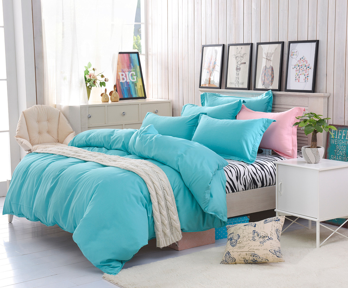 twin bed comforter sets for adults promotionshop for promotional  -  polyester bed linen kids adults bedding sets blue duvet cover setkingqueentwin size bedspread