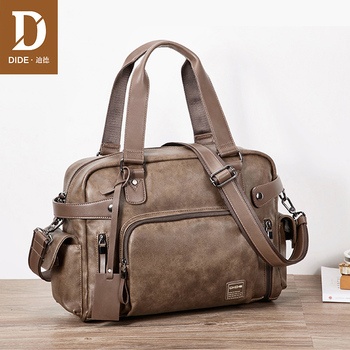 DIDE Business Briefcase Laptop Bag Totes Men Bag PU Leather Shoulder Crossbody Bags Men Messenger Bags Travel Handbags