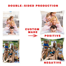 Fuwatacchi Double-sided Customized Cushion Cover Personal Photo Family Star Picture Customize Pillowcases Home Decorative Pillow