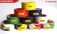 5x 4.5cm * 15 meters Floor Warning Adhesive Tape Sticky, Work Area Caution Tape, Ground Attention Tape Red, yellow, freeshipping