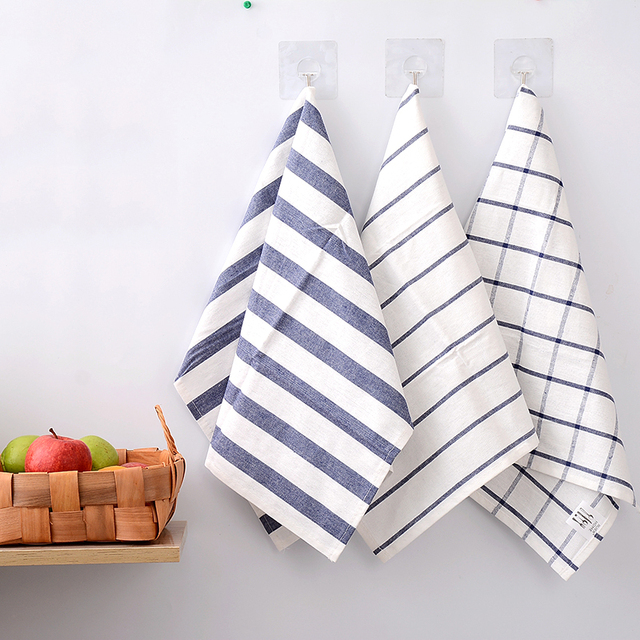 Kitchen Towels Bulk New Cabinet Doors Sanky Home 3pc Lot Cotton Towel With Line Scouring Pad Napkin