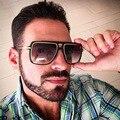 Alta Calidad de Lujo de Gran Tamaño gafas de Sol Para Hombre Hombre Diseñador de la Marca de gafas de Sol Sin Montura Gafas de Sol Para Hombres Gradiente Lente Lentes Claros