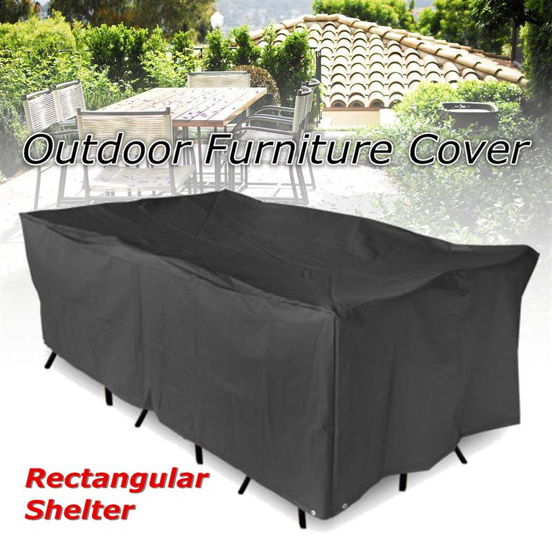 Outdoor Waterproof Furniture Cover Table Cloth Canopy Garden Patio Table Chair Rectangular Shelter Protective Dust Cover ...