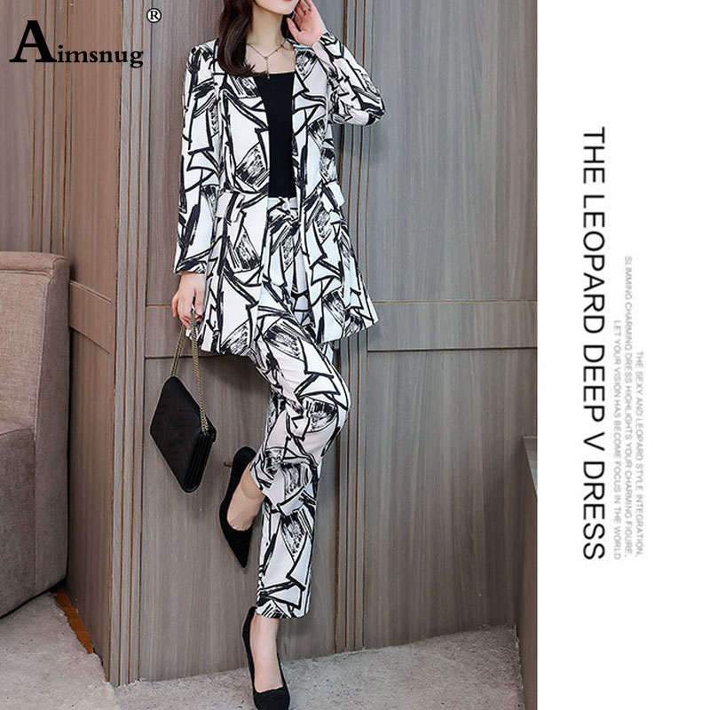 New OLwomen's Korean version of the suit autumn winter temperament Slim long suit jacket trousers Two pieces / sets tide fashion