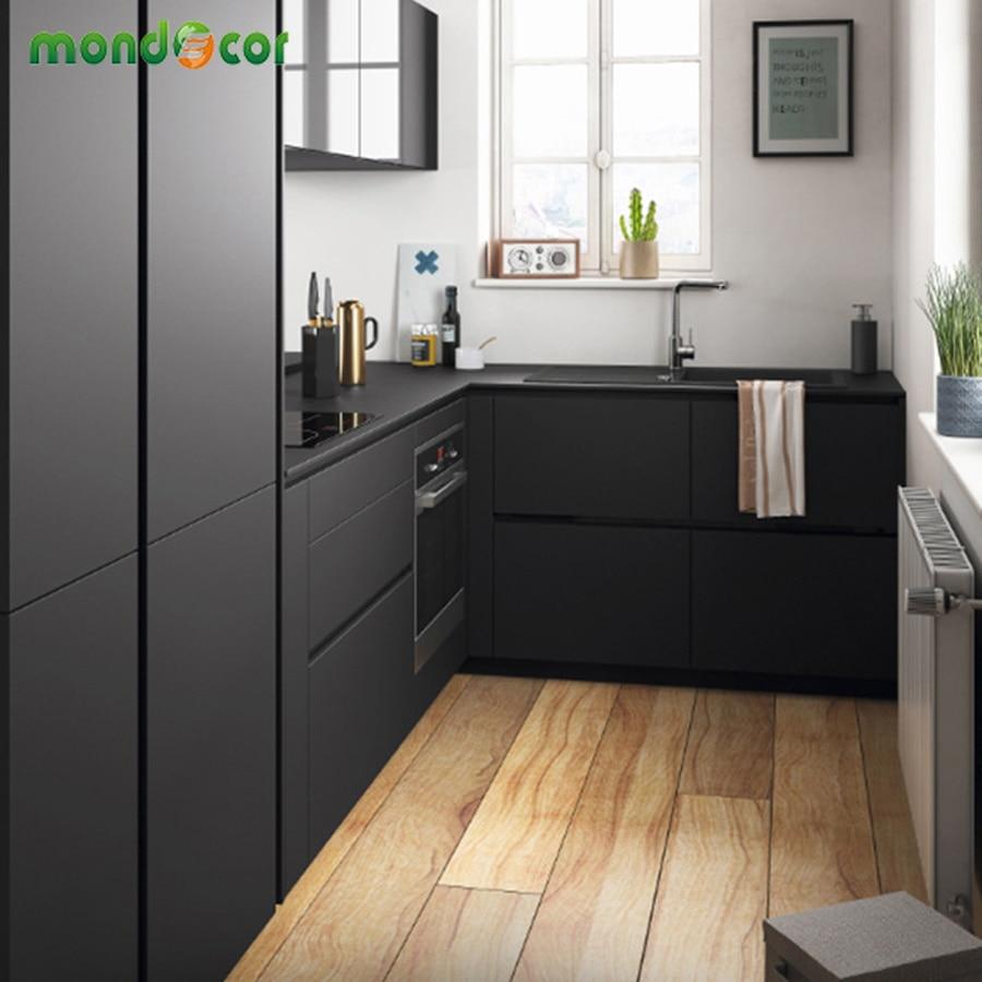 3M/5M Colorful Decorative Contact Paper PVC Self Adhesive Wallpaper Solid Color Matt Kitchen Cabinet Furniture Waterproof Films
