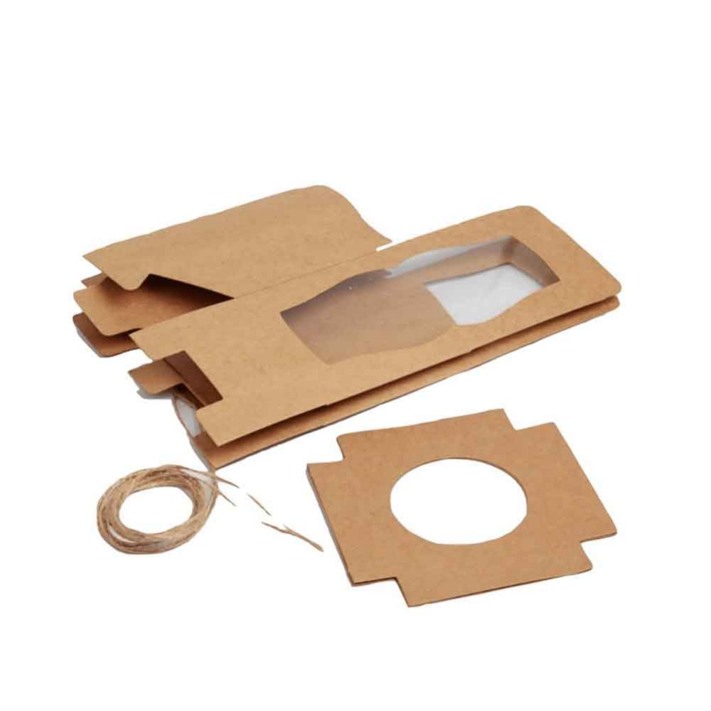 UUSI DESIGN Yksi 9x9x9cm Cupcake-laatikot Häät-lahjapakkaus Favor - Tavarat lomien ja puolueiden - Valokuva 6