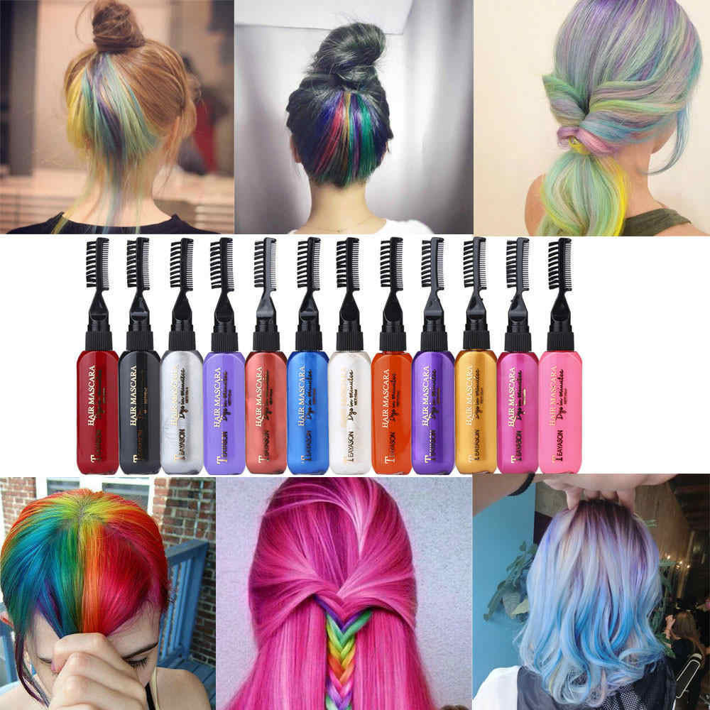 Detail Feedback Questions About 13 Colors Temporary Hair Dye