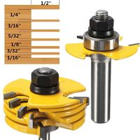 Hot Sale 2Pcs Slot Cutter 3 Wing Router Bit 1 2 1 4 Inch Shank Adjustable