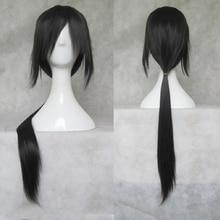 IHYAMS الباروكات 80 سنتيمتر شعر مستعار تأثيري الاصطناعية طويلة Skunks Aph الأسود ناروتو أف ياو Uchiha Itachi زي الباروكات