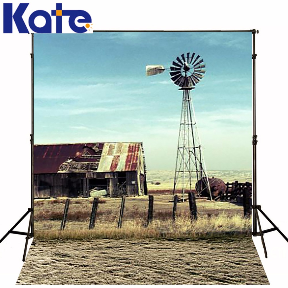 300Cm*200Cm(About 10Ft*6.5Ft) Backgroundswindmill Farm House Photography Backdropsthick Cloth Photography Backdrop 3064 Lk|cloth photography backdrops|photography backdrops|photography cloth backdrops - title=