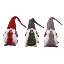 17 Inches Handmade Christmas Gnome Decoration Swedish Santa Holiday Collectible Figurines