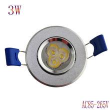 newest free shipping LED light 5pcs / lot 3W led ceiling light   led spotlight LED driver for home lighting AC85-265V