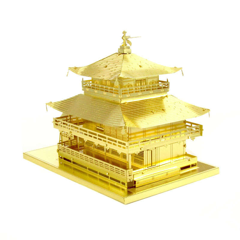 все цены на  3D Metal Puzzles toys for children Adults Model Toys Jigsaw Golden Pavilion-G metal puzzle educational toys Christmas Gifts  в интернете