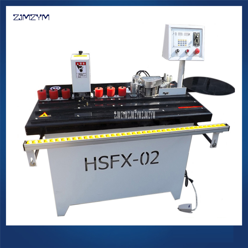 HSFX-02 Wood Furniture Pvc Mdf Veneer Rubber Double-sided Adhesion Glue Trimming Curve Edge Banding Machine 220V/380V 0.3-3.0mm