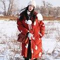 Fuzzy bola MX155 cat Nueva Llegada cuello de piel con capucha floja x largo invierno de las mujeres capa caliente gruesa chaqueta de pato blanco abajo lindo