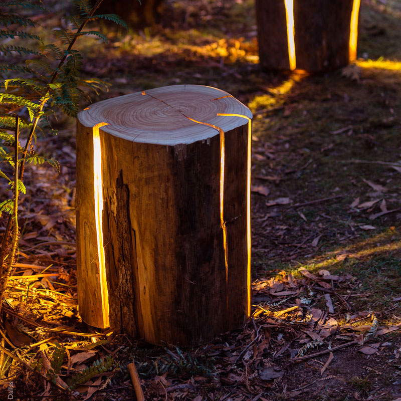 CE imitation tree stump lamp creative landscape lighting park garden backyard path lawn light archpole табурет oak stump
