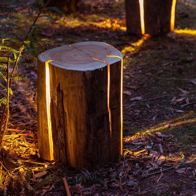 Ce Imitation Tree Stump Lamp Creative Landscape Lighting