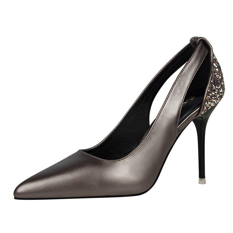 Sandales Glissement Pompes 2018 Femmes Parti Talon Chaussures Slingbacks Hauts Dame Sur Printemps Noir kaki Mariage Talons Cm Or Argent Sexy Des 8 De Classiques AYf8qrIfn