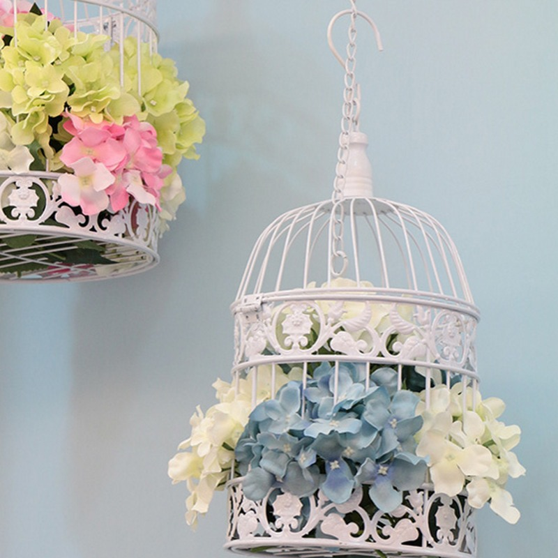 2016 Hand Made Wedding Decoration Classic Iron Birdcage Fashion Large Antique Decorative Bird Cages In Nests From Home Garden On