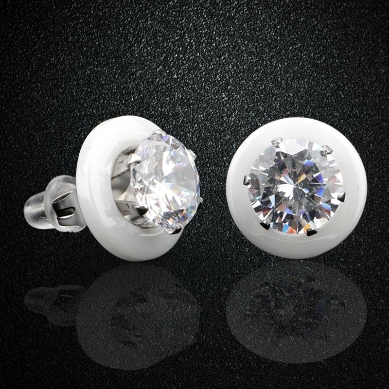 Aromat e reja Veshjet qeramike të bardha të zeza për vathë për - Bizhuteri të modës - Foto 4