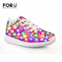 Forudesigns Детская обувь Обувь для девочек Спортивная обувь Фитнес Спорт Красочные Звезда 3D печать дети Футбол Сапоги и ботинки для девочек Удобная Уличная обувь