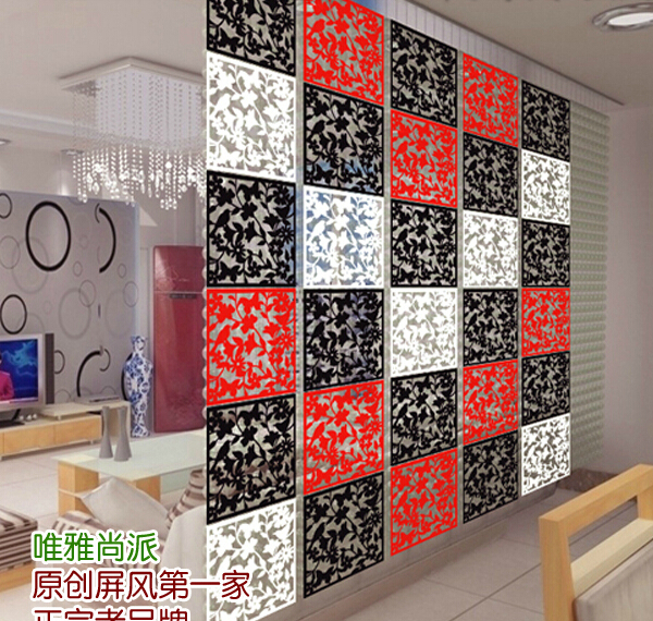 Fashion Hanging Screen Partition Bedroom Wall Post Entry Living Room Home Decoration Carved Pvc Panel 8pcs/lot 40cm