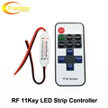 LED Strip Controller DC12-24V 11key RF Wireless Remote Controller for LED Strip Dimming.