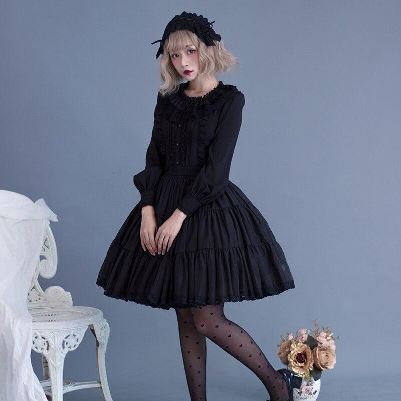 Lolita étudiant quotidien Streetwear chemise belle Loli lâche Harajuku japonais à manches longues chemise élégant haut pour femme