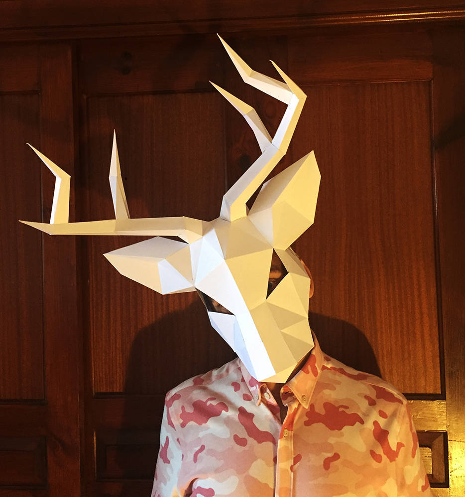 Christmas Deer DIY Mask Cosplay Christmas Costume  Adult Children Cardboard Breathable Halloween Ricky Funny Masks