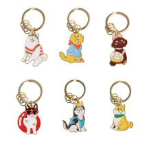 SANSUMMER Key Chains Cute Girl Heart Small Animal Dog Keychain Siberian Husky Shiba Inu Alaska Poodle Chain Llaveros 6011