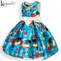 Girls Dress New Summer Clothes Fashion Kids Costume Bow Party Dress Moana Princess Dresses For Girls Children Clothing Vestidos