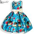 Meninas Vestido de Verão Novas Roupas Da Moda Crianças Traje Vestido de Festa Arco Moana Princesa Vestidos Para Meninas Crianças Vestidos de Roupas