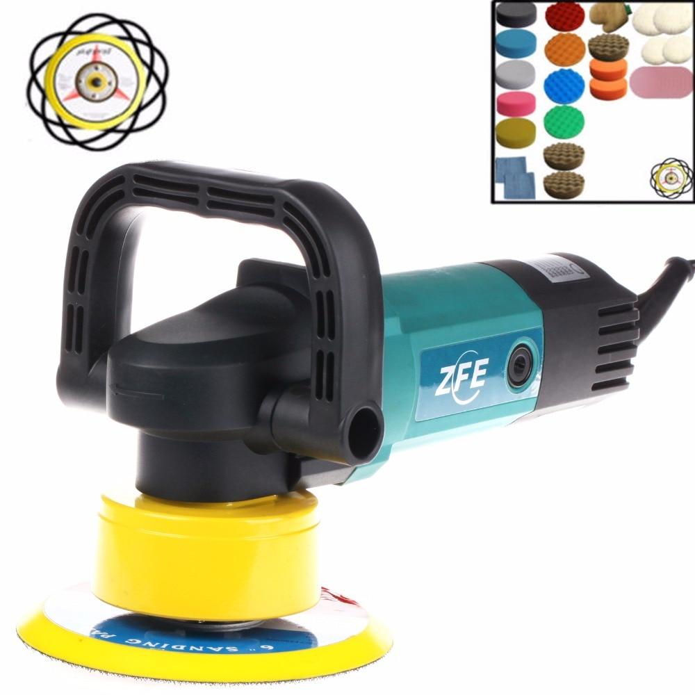 Spta 900w 230v 110v dual action machine car polisher polishing pad sander buffer set select voltage you want