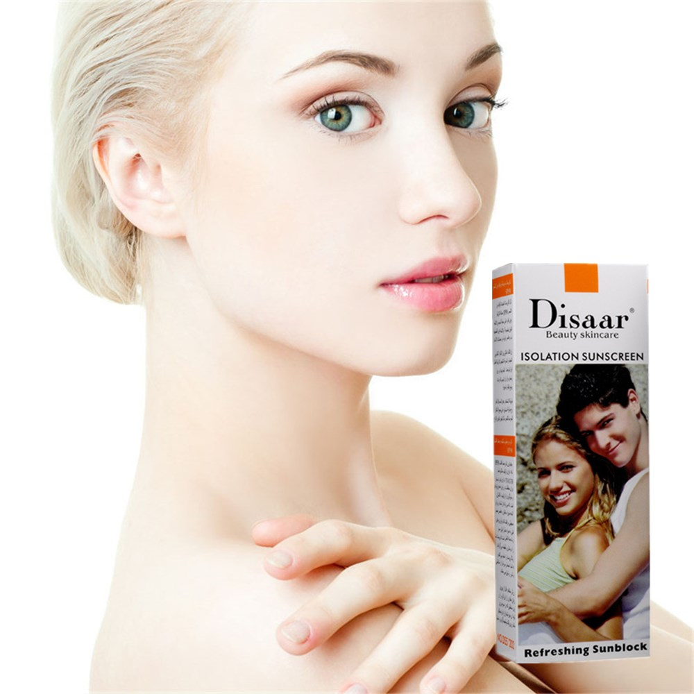 Women Makeup Face Isolation Sunscreen Foundation Concealer Shake Powder Whitening Cover