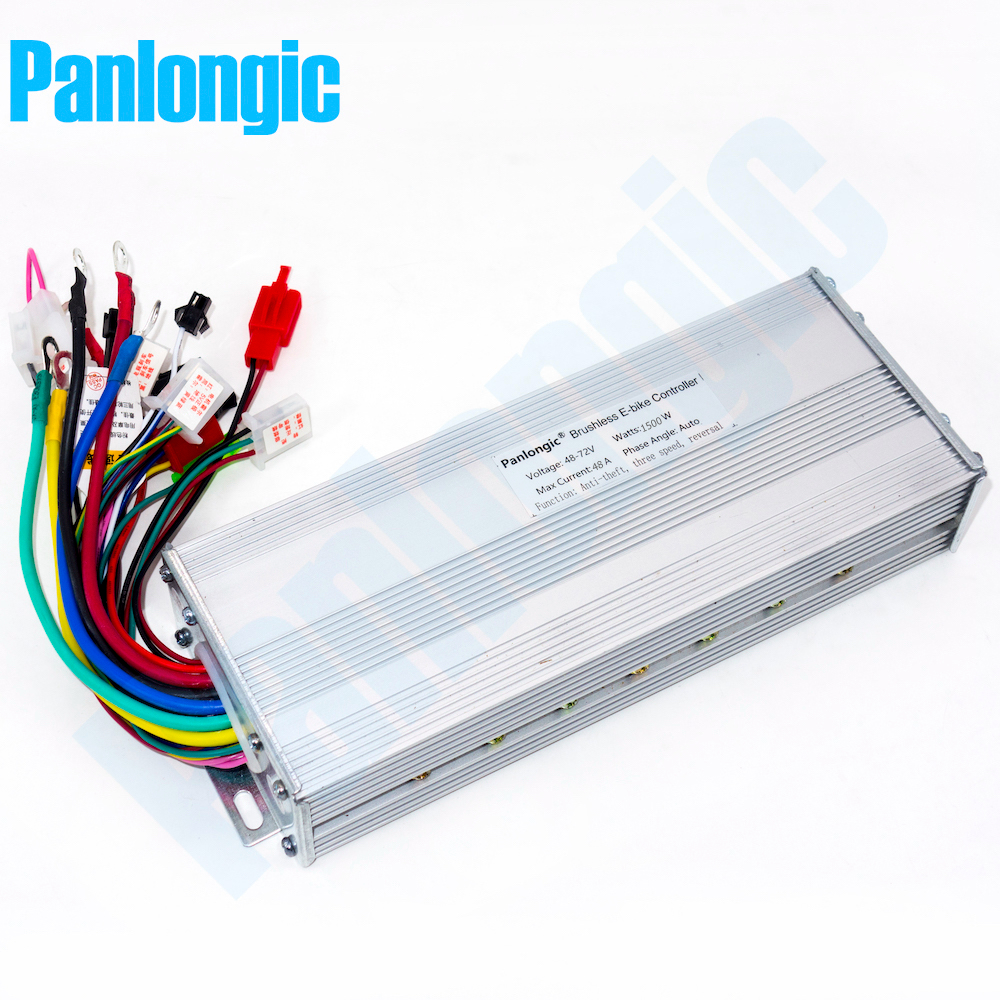 Panlongic 48-72V 1500W Electric Bicycle E-bike Scooter Hub Motor Brushless DC BLDC Motor Controller 18 MOFSET Free Shipping 4inches bldc hub motor with tyre hall sensor and eabs function enable for electric scooter ebike motorycle front or rear driven
