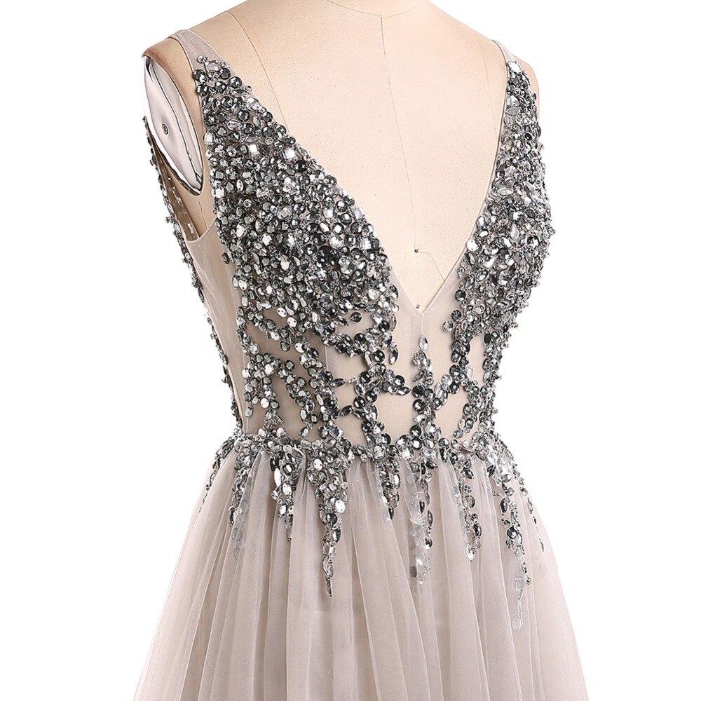 931af0e0e47 2019 Suosikki женские градиентные вечерние платья с v-образным вырезом и  блестками
