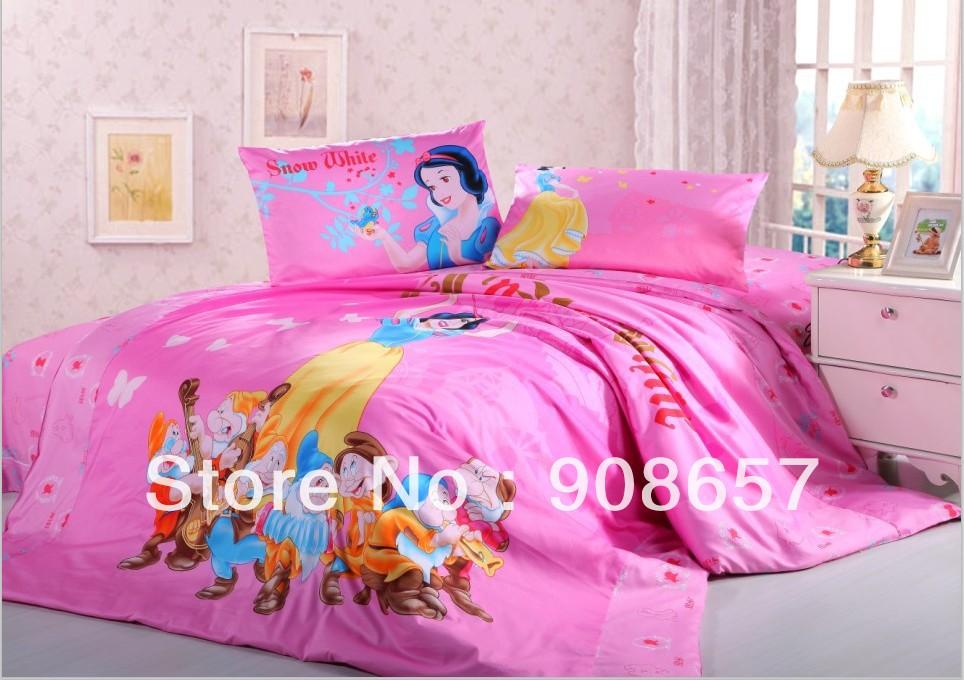 caliente rosa y los siete enanitos twin completa reina edredn cubiertas juego de cama de