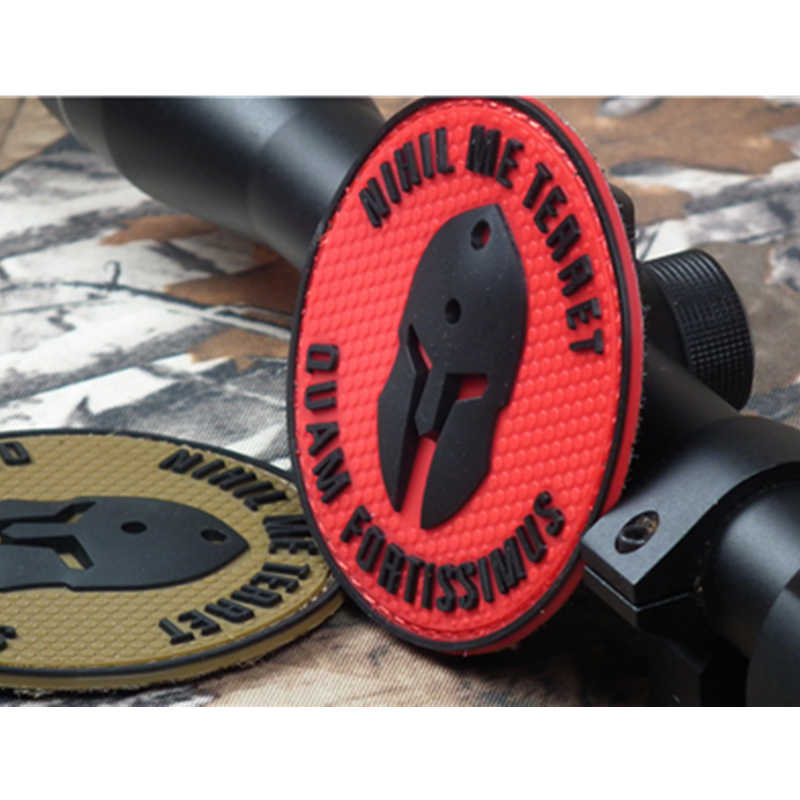 a6dd18177c0 ... Molon Labe BADGE Nothing frightens Me nihil me terret Tactical Morale  USA ARMY PVC the champion ...