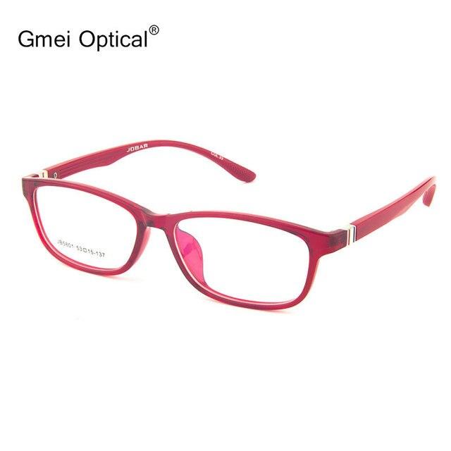 Gmei Оптический JB5801 Full-Rim Frame Очки для Женщин Очки Очки с Красными и Фиолетовыми Опционные Цветы