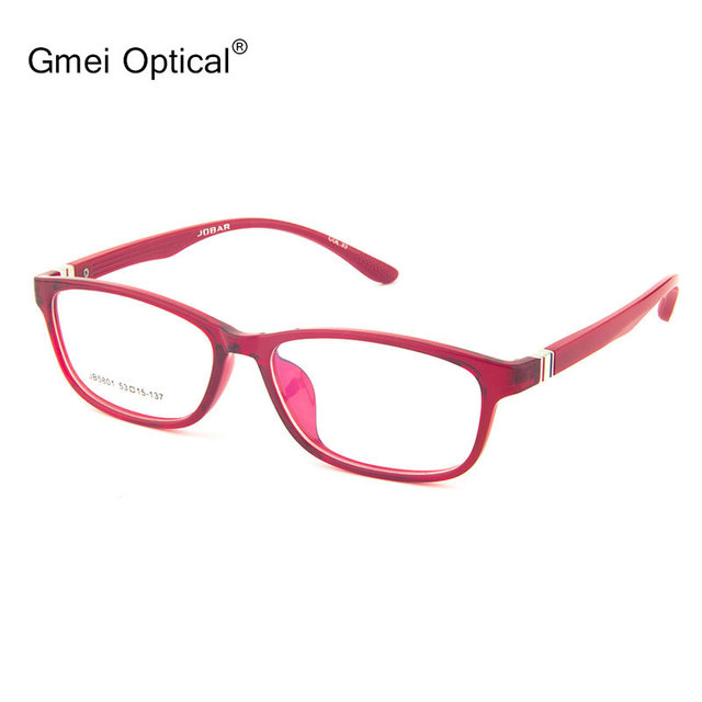 Gmei Optical JB5801 Full-Rim Frame Eyeglasses for Women Glasses Spectacles with Red and Purple Optional Colors