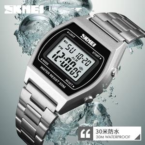 Image 1 - 2019 New Fashion Relogio Feminino Ladies Watches Outdoor Sport Luxury Alloy Digital Watch Strap Business Wristwatch Woman Clock