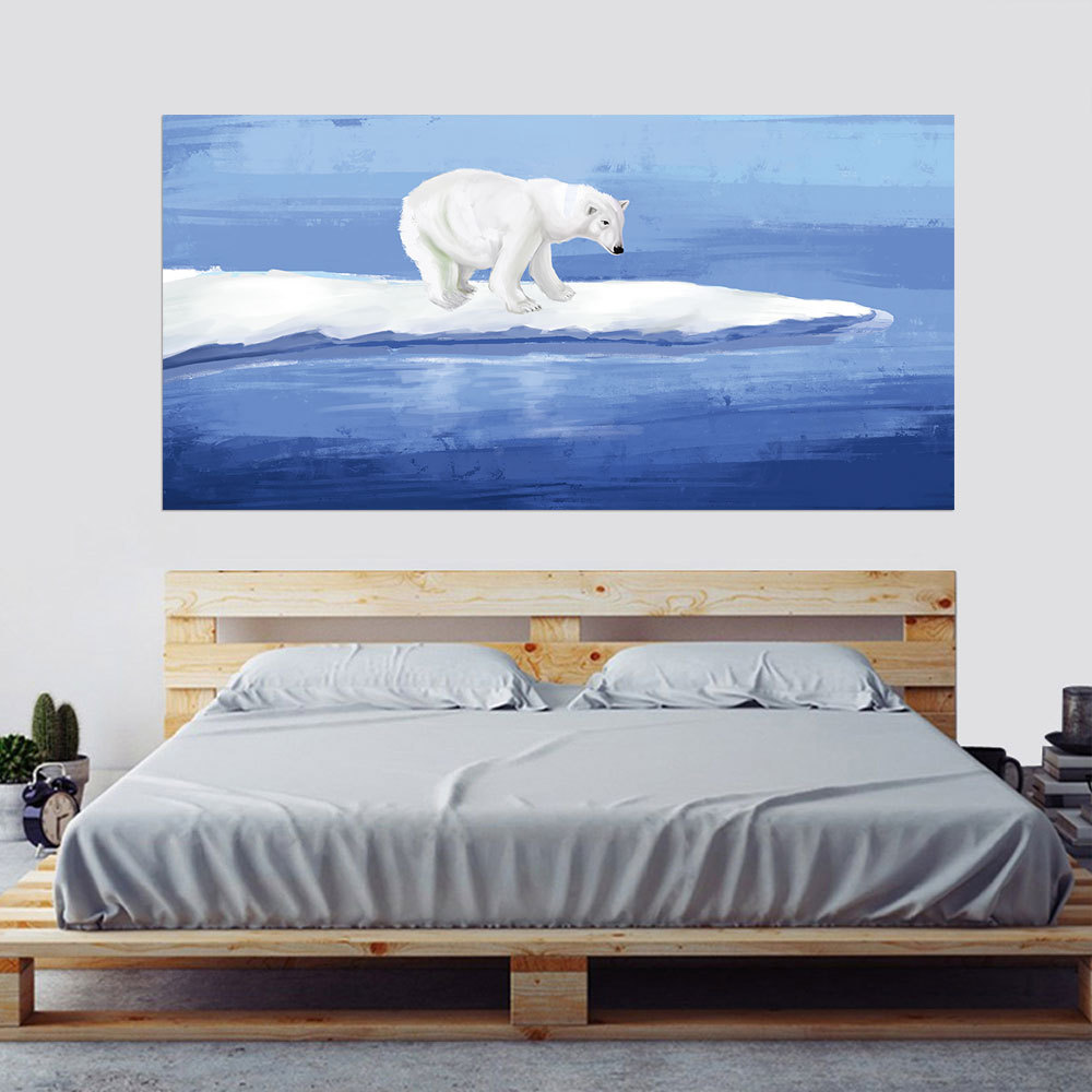 Skillful Knitting And Elegant Design Home Decor 2pcs/set Watercolour Polar Bear Sea 3d Bedside Art Mural Sticker Home Decor Bedroom Tv Sofa Wall Poster Pvc Animal Wall Sticker To Be Renowned Both At Home And Abroad For Exquisite Workmanship Home & Garden