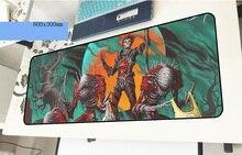 Геймерский коврик для мыши guild wars с рисунком HD 800x300x3 мм игровой коврик для мыши модный ноутбук аксессуары для ПК ноутбук padmouse эргономичный коврик