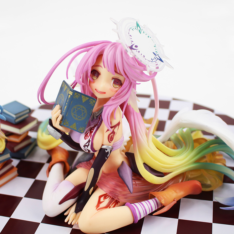15cm No Game No Life Figure Toys Flueqel Jibril PVC Action Figure Toys Little Shiro Angel beautiful doll model girls best gifts little cute flocking doll toys kawaii mini cats decoration toys for girls little exquisite dolls best christmas gifts for girls