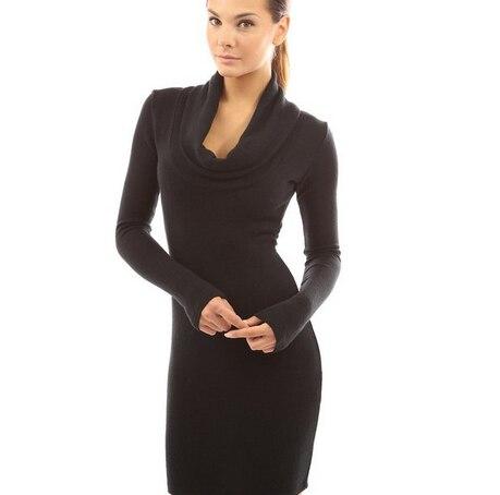 45731c19b1 2015 Womens Fall Fashion Winter Autumn Elegant Bow Stretchy Warm Classicsk Tshirt  Dress Long Sleeve Dresses cheap-clothes-china